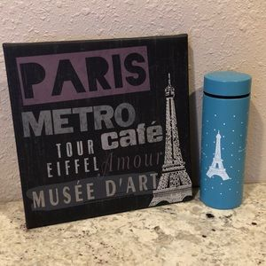 Paris wall art and tea decanter